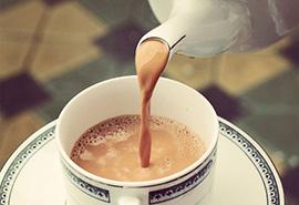 Trà sữa cafe nóng